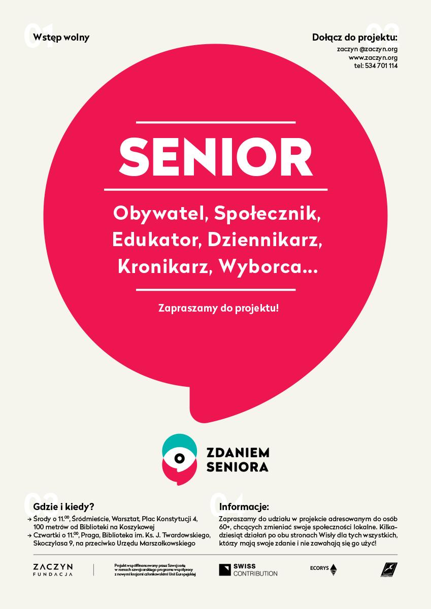 plakat zdaniem seniora