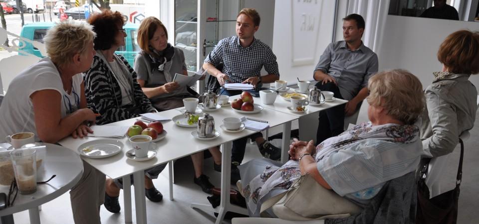 Spotkanie redakcyjne Zdaniem Seniora w Apteka Sztuki