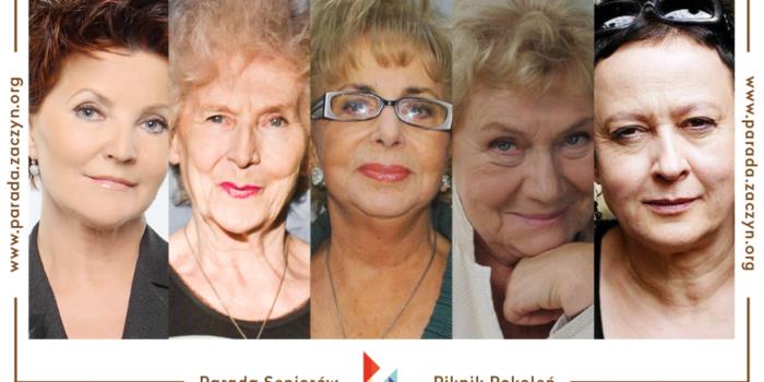 Debata Recepta na udaną starość - Parada Seniorów, Piknik Pokoleń 2014 - Jolanta Kwaśniewska, DJ Wiką, Zofia Czerwińska, Teresa Lipowska, Hanna Samson